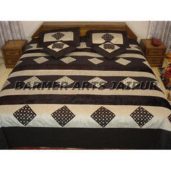 Silk Mirror Embroidery Bed Cover
