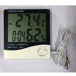 Mextech Brand Thermo Hygro Clock Model No-TM- 2
