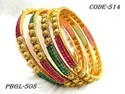Antique Gold with Pearl Bangles