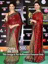 Red Shimmer Saree