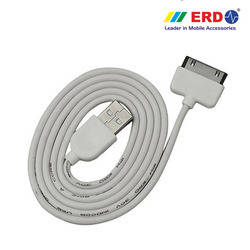 White IPH 4 USB Data Cable