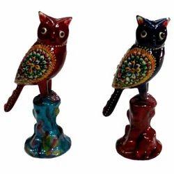 Meenakari Owl With Stand
