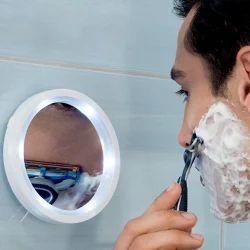 Kawachi Magnifying Glass Travel Makeup Mirror LED Lights Swi