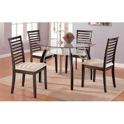 Wooden Round Dining Table With Chair Set