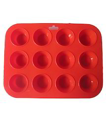 Silicone 12 Cavity Cup Cake Mould