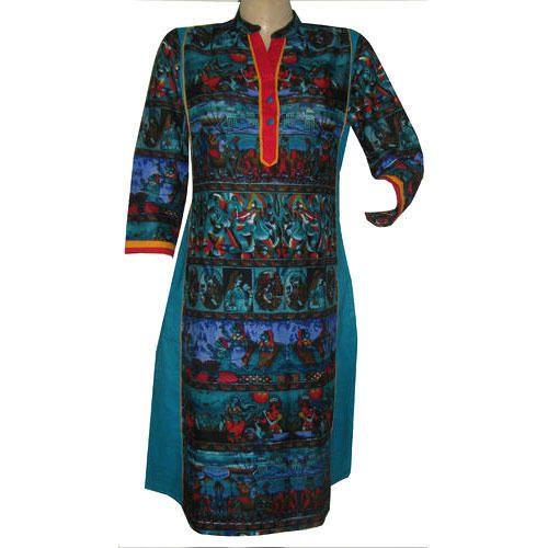 Straight Designer Cotton Kurti