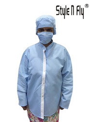 Apron Female Set with Female Cap & Mask