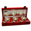 Brass Silver Plated  Bowl Set