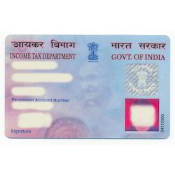 Permanent Account Number Income Tax PAN