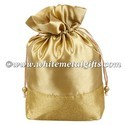 Potli Bag - Golden Satin