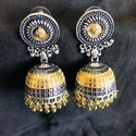 Oxidized Jhumkha Earrings