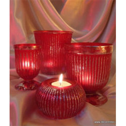 Red Color Votive Holders