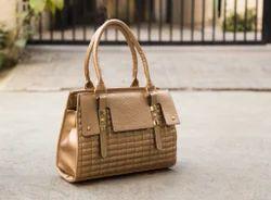 Glossy Brick Handheld Ladies Shoulder Bag