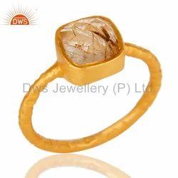Gold Vermeil Silver Gemstone Ring