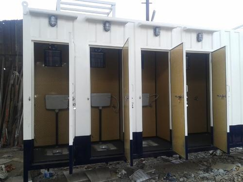Portable toilet cabins portable container toilets for Shipping container public bathroom