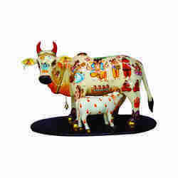 Kamdhenu Cow and Calf Figurine