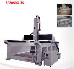 3Axis Wood and Foam Molding CNC Machinery with Steel Plate T
