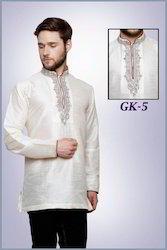 Elegant White Short Kurta For Men