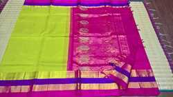 Korvai Silk Long Border Sarees