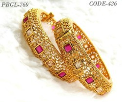 Traditional Antique Polki Stone Bangles