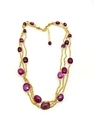 Silver Ruby Pearl Washer Bunch Necklace