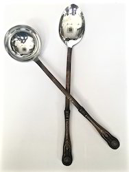 Smokey Finished Chafing Spoon & Ladles