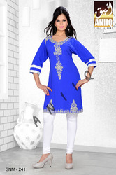 Embroidered Short Kaftan