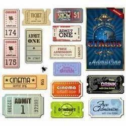 Cinema Tickets Label