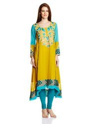 Floral Embroidered Casual Party Wear Kurti