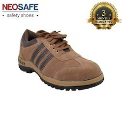 Sporty Brown Safety Shoe