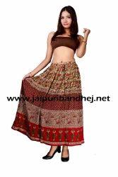 Bagru Casual Skirts