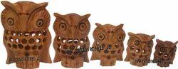 Wooden _Owl Set