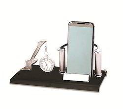 Desk Clock with Mobile Holder