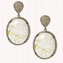 Diamond Stone Earrings