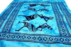 Dancing Doll Pattern Bedspread/ Indian Mandala Tapestry