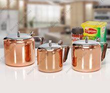 premium tea pot with copper