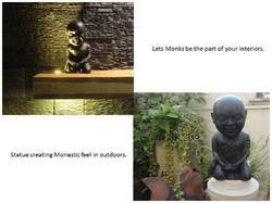 marble monks statue