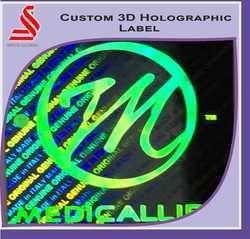 Custom 3D Laser Holographic Labels