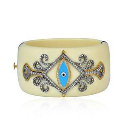 bakelite cuff diamond bangle