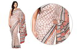 Bagru Booti Printed 2 Colour Saree