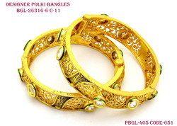 Designer Polki Kundan Bangles
