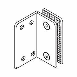 Glass to Wall Bracket 90 SNGL Side Plate