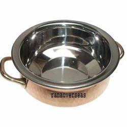 Copper Steel Handi Dish