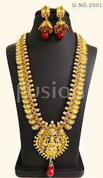 Long Haram Temple Necklace Set