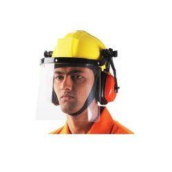 Helmet with Face Shield & Ear Muff