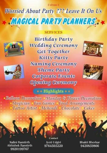 magical party planners party planners retailer from pune