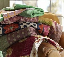 Reversible Bengali throw Quilt