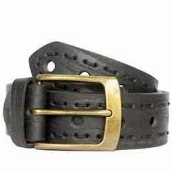 Designer Casual Black Leather Belt