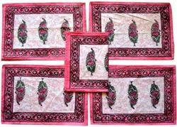 Hand Block Printed Cotton Mat Set