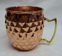 FDA Certification And Copper Metal Type Copper Mug For_Vodka